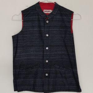 Fabindia Kids Silk Black Vest, 4-6 years